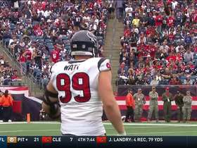 J.J. Watt gets pumped up after Bademosi recovers a muffed punt