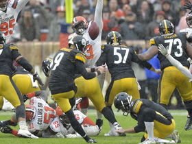 Chris Boswell's would-be game-winning FG goes wide