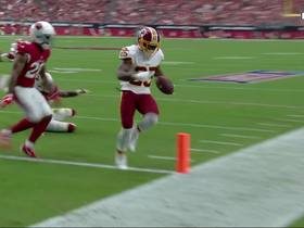 Alex Smith dumps off pass to Chris Thompson for first TD