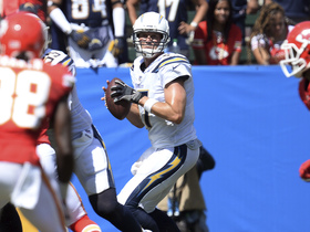 Rivers takes big hit, still delivers TD dime to Ekeler