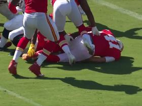 Mahomes HYPED after De'Anthony Thomas forces key fumble on punt