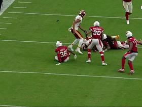 Peterson fumbles after 52-yard catch and run