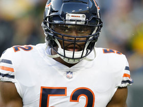 Mack brings the pressure on his first snap as Bear
