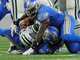 Ziggy Ansah overpowers two linemen to sack Sam Darnold