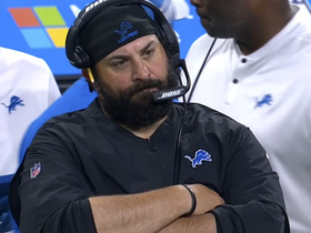 Patricia reacts to Matt Prater's missed field goal