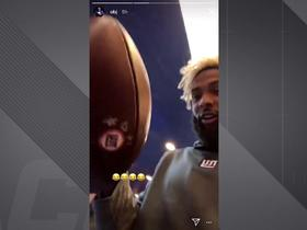 Odell Beckham steals Saquon's first TD ball on Instagram