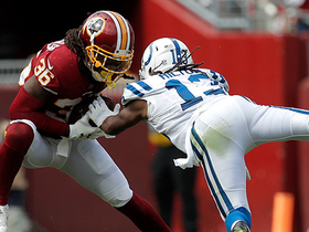 D.J. Swearinger dives for INT on tipped Luck pass
