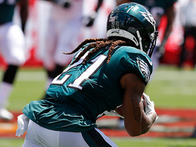Ronald Darby intercepts Ryan Fitzpatrick after pass was deflected