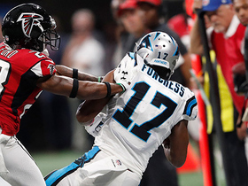 Devin Funchess keeps toes in bounds on 12-yard catch