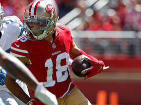 Dante Pettis catches pass in stride, cuts upfield for 35 yards