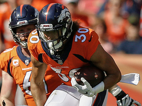 Phillip Lindsay corkscrews his way to impressive 11-yard gain