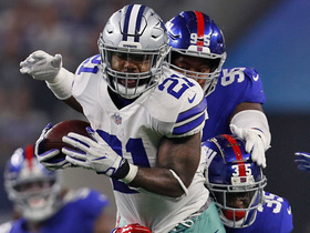 Ezekiel Elliott finds a gap, ducks defenders for 19-yard run