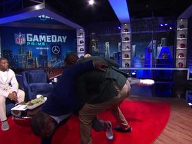 Deion Sanders and Shannon Sharpe re-enact controversial Clay Matthews hit