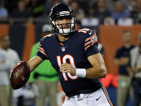 Trubisky pirouettes for Russell Wilson-esque throw