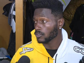 Antonio Brown addresses media in return to Steelers' facility