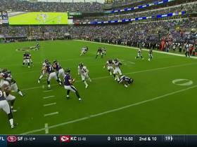 Chubb takes Flacco down for rookie's first solo sack