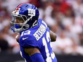 OBJ makes 21-yard sideline catch between two defenders