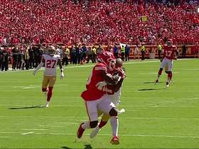 Sherman prevents would-be 49-yard TD catch by Tyreek Hill