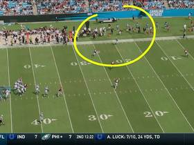 Devin Funchess dances down sideline for 27-yard gain