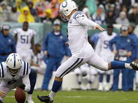 Adam Vinatieri kicks 35-yard FG just inside uprights