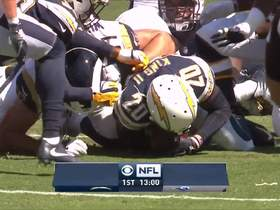 Desmond King recovers Todd Gurley's fumble