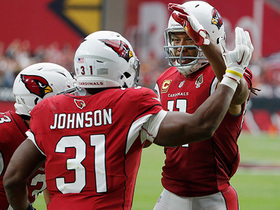 David Johnson reels in 21-yard TD pass from Bradford