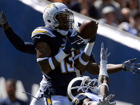 Keenan Allen leaps up over TWO Rams for 25-yard grab