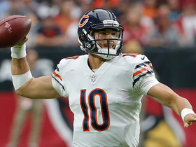 Trubisky dials up 25-yard sideline dime to Burton