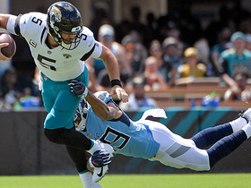 Wesley Woodyard sacks Blake Bortles on Jags' first drive