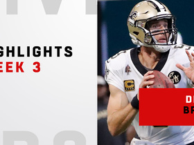 Top plays from Brees' record-breaking day   Week 3