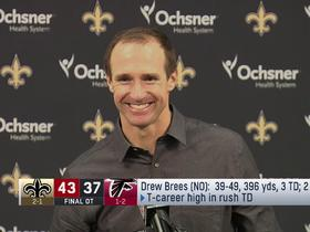 Brees: Now I can convince people that 'spin moves are good'