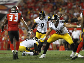 Chris Boswell misses extra point after McDonald TD