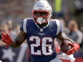 Sony Michel rumbles up field for first down