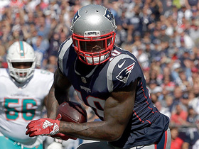 Josh Gordon's first catch takes Patriots inside 5-yard line