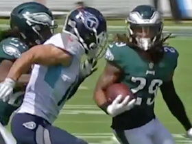 Avonte Maddox unleashes juke fest on INT return
