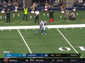Golladay leaps into the air to make a 22-yard catch