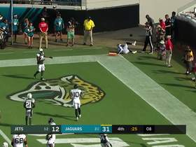 Bortles pass to Westbrook is incomplete on two-point conversion attempt