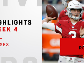 Rosen's best passes from his first start | Week 4
