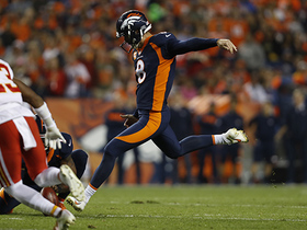 Brandon McManus rushes on field to kick FG as first half expires