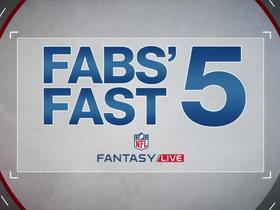 Fabiano's top five under-the-radar slot fantasy receivers | NFL Fantasy Live