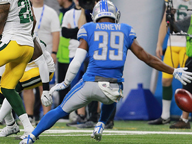 Jamal Agnew recovers hot-potato muffed punt on Packers' 1-yard line