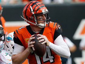 Andy Dalton rolls out to find A.J. Green for a 18-yard catch