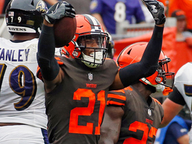Browns rookie Denzel Ward picks off Joe Flacco