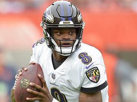 Lamar Jackson lines up as RB and gets first down