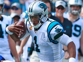 Cam fakes out cameraman on punishing QB option