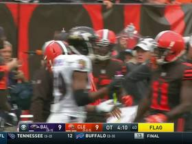 Landry zig zags down the sidelines for a 27-yard gain