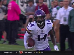 Stefon Diggs weaves down sideline for 24 yards