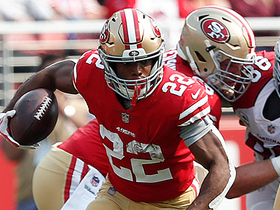 Breida uses speed to bolt past defenders for first down
