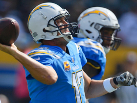 Rivers delivers CLASSIC sidearm pass for first down