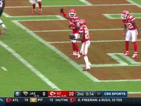 Chiefs defense celebrate after an interception
